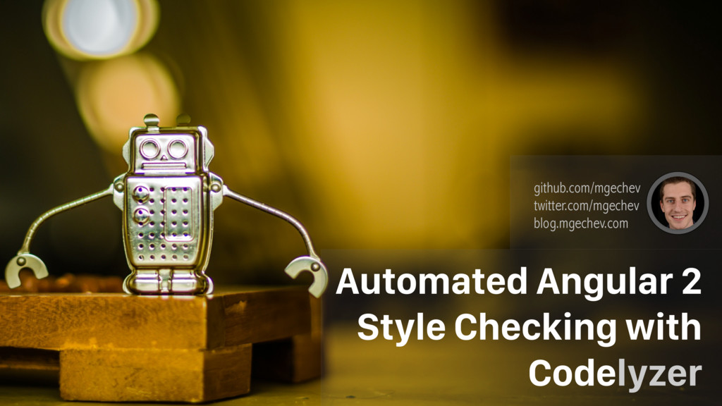 Automated Angular 2 Style Checking with Codelyz...