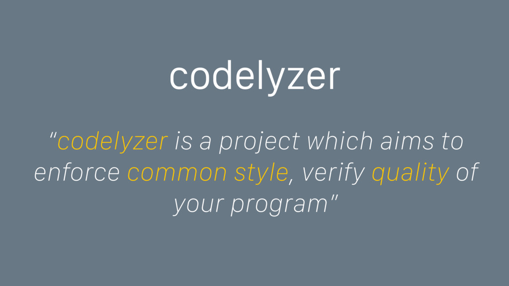 "codelyzer ""codelyzer is a project which aims to..."