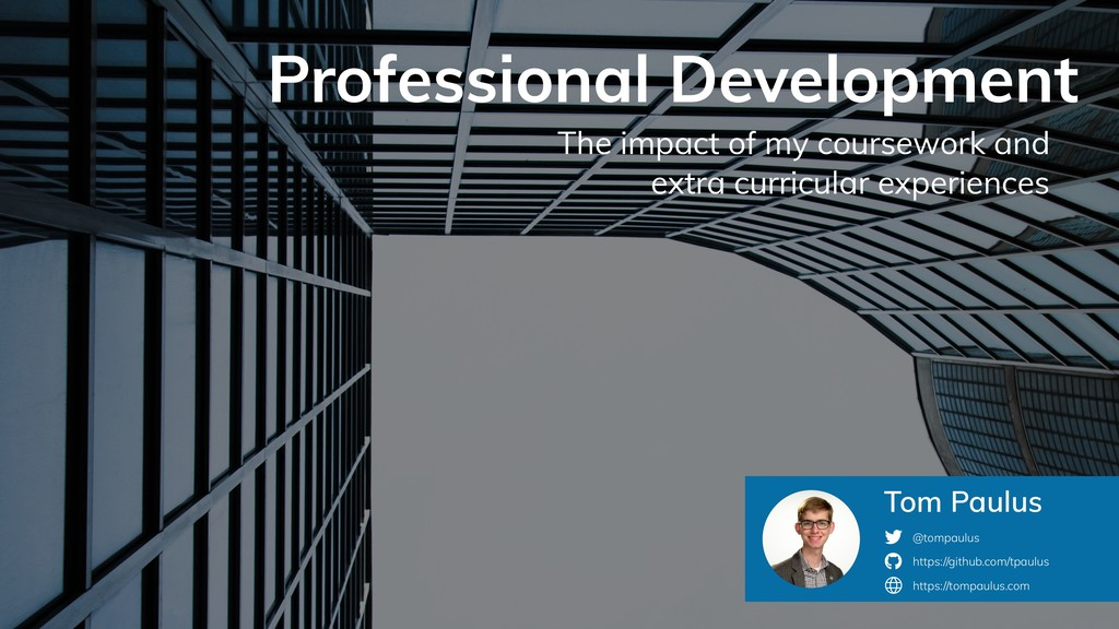 Professional Development The impact of my cours...