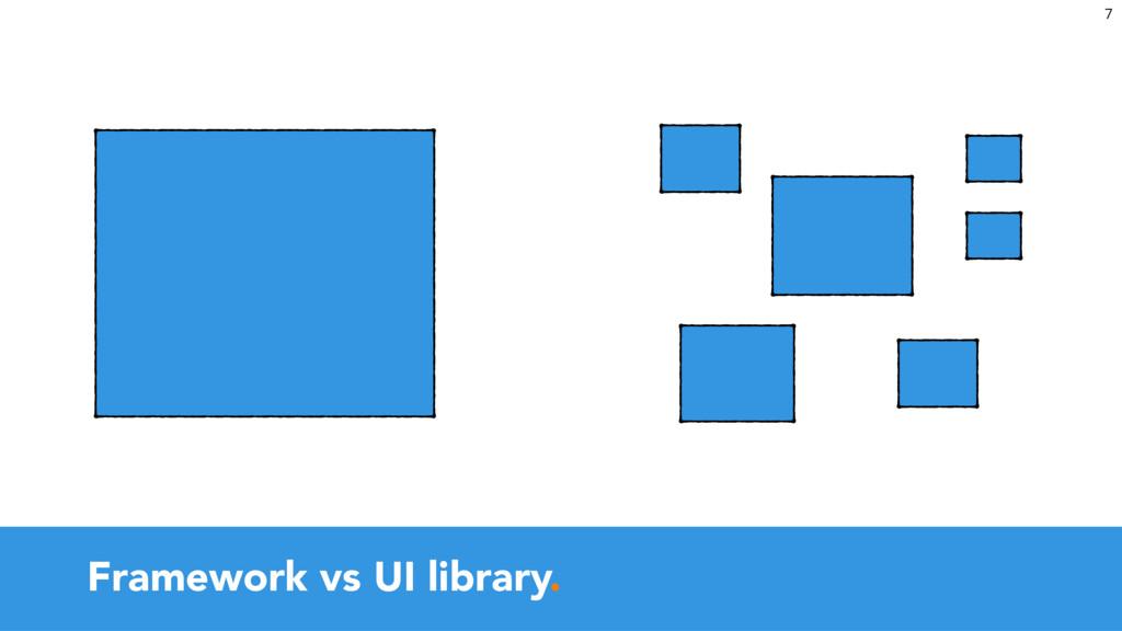 Framework vs UI library. 7