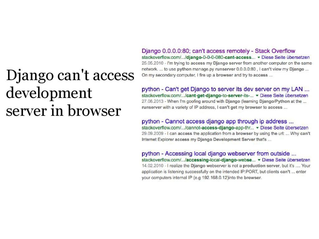 Django can't access development server in brows...