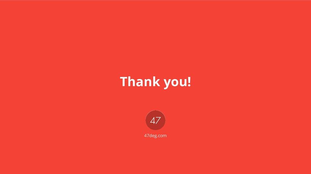 Thank you! 47deg.com