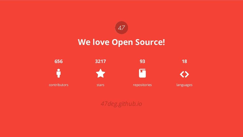 We love Open Source! contributors stars reposit...