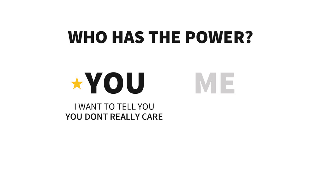 WHO HAS THE POWER? YOU ME I WANT TO TELL YOU YO...