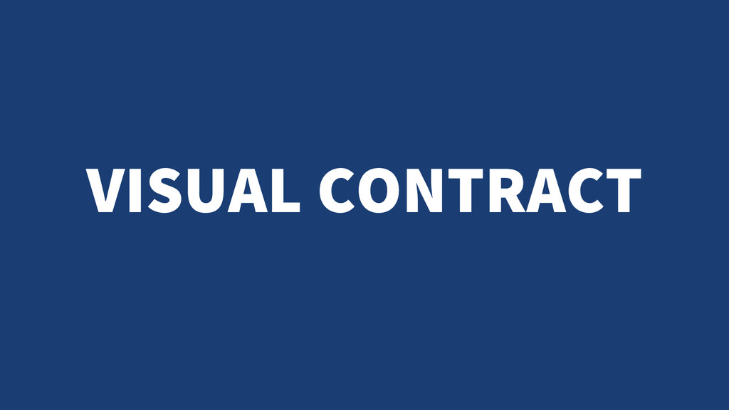 VISUAL CONTRACT