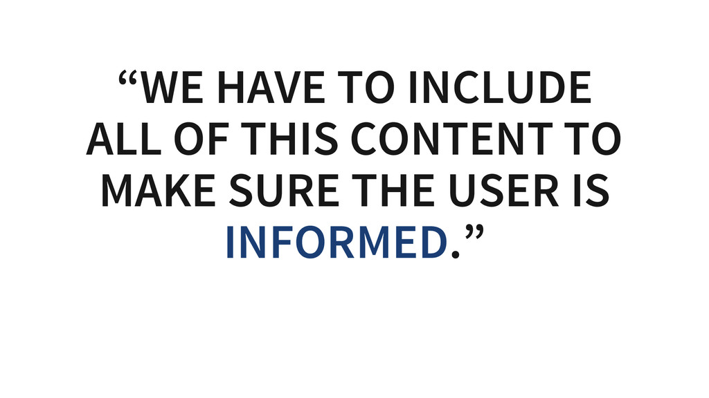 """""""WE HAVE TO INCLUDE ALL OF THIS CONTENT TO MAKE..."""