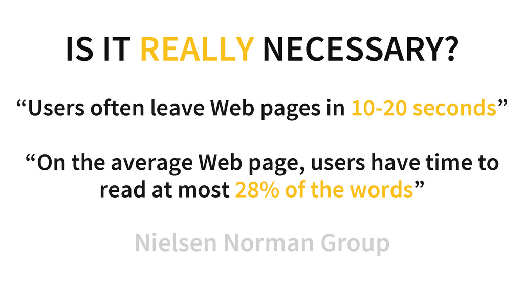 """IS IT REALLY NECESSARY? """"Users often leave Web ..."""