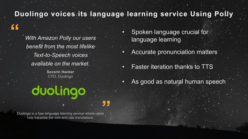 Duolingo voices its language learning service U...