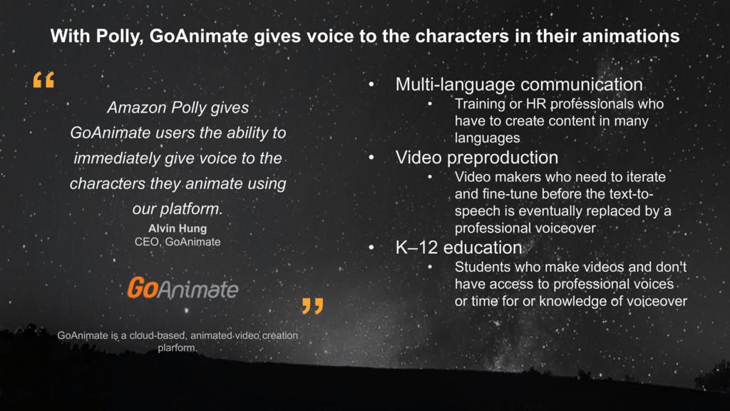 GoAnimate is a cloud-based, animated video crea...