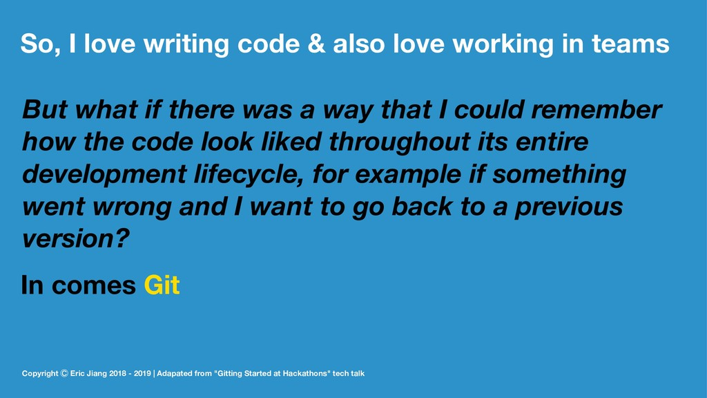 So, I love writing code & also love working in ...