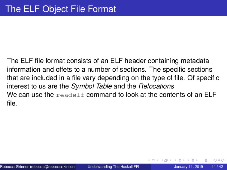 The ELF Object File Format The ELF file format c...