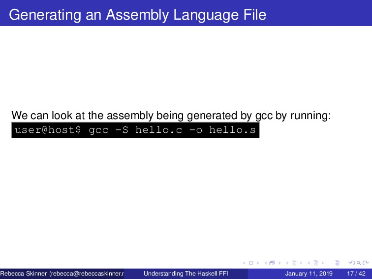 Generating an Assembly Language File We can loo...