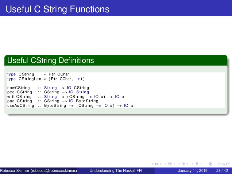 Useful C String Functions Useful CString Definit...