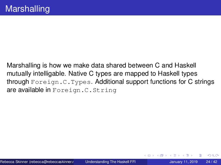 Marshalling Marshalling is how we make data sha...