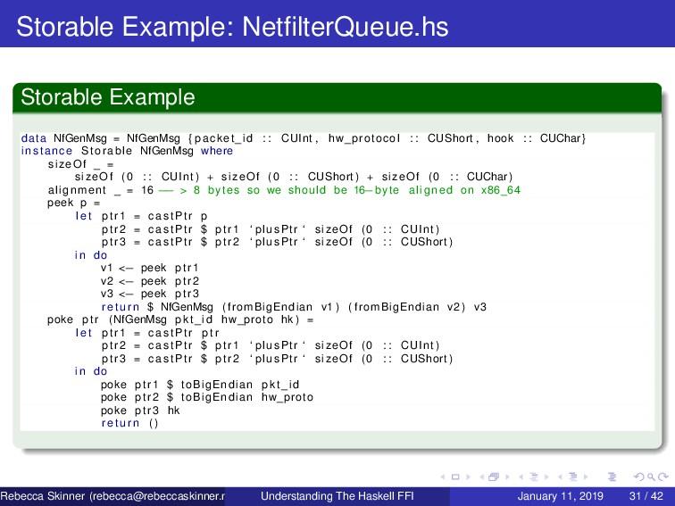 Storable Example: NetfilterQueue.hs Storable Exa...