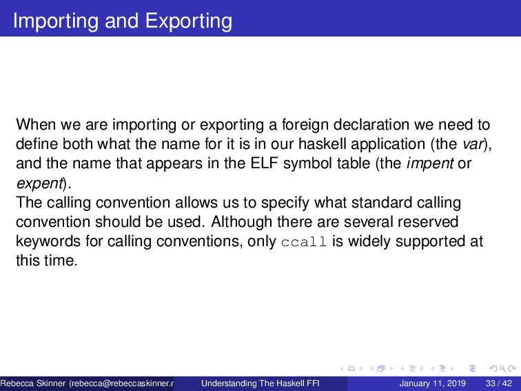 Importing and Exporting When we are importing o...