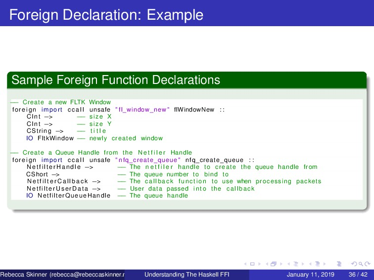 Foreign Declaration: Example Sample Foreign Fun...