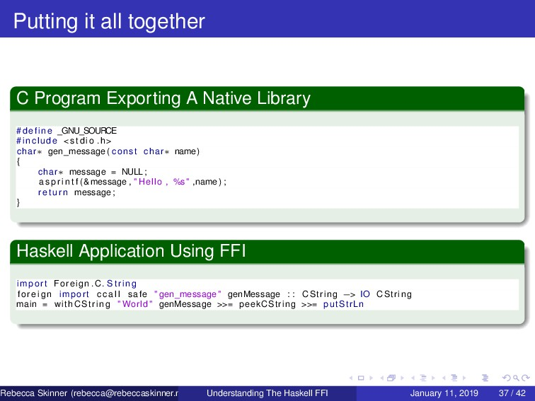 Putting it all together C Program Exporting A N...