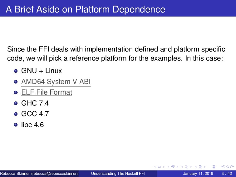A Brief Aside on Platform Dependence Since the ...