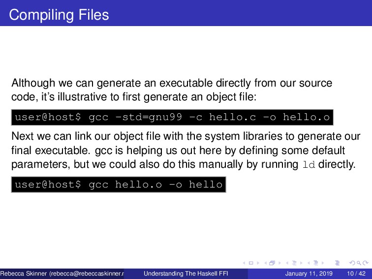 Compiling Files Although we can generate an exe...