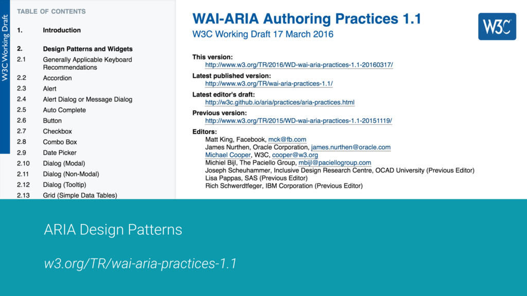 ARIA Design Patterns w3.org/TR/wai-aria-practic...