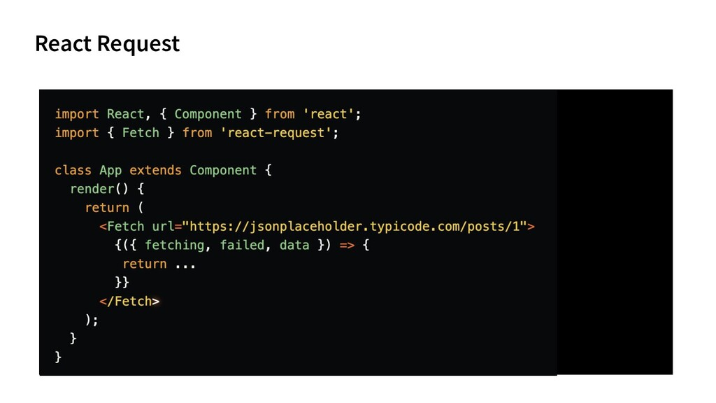 React Request