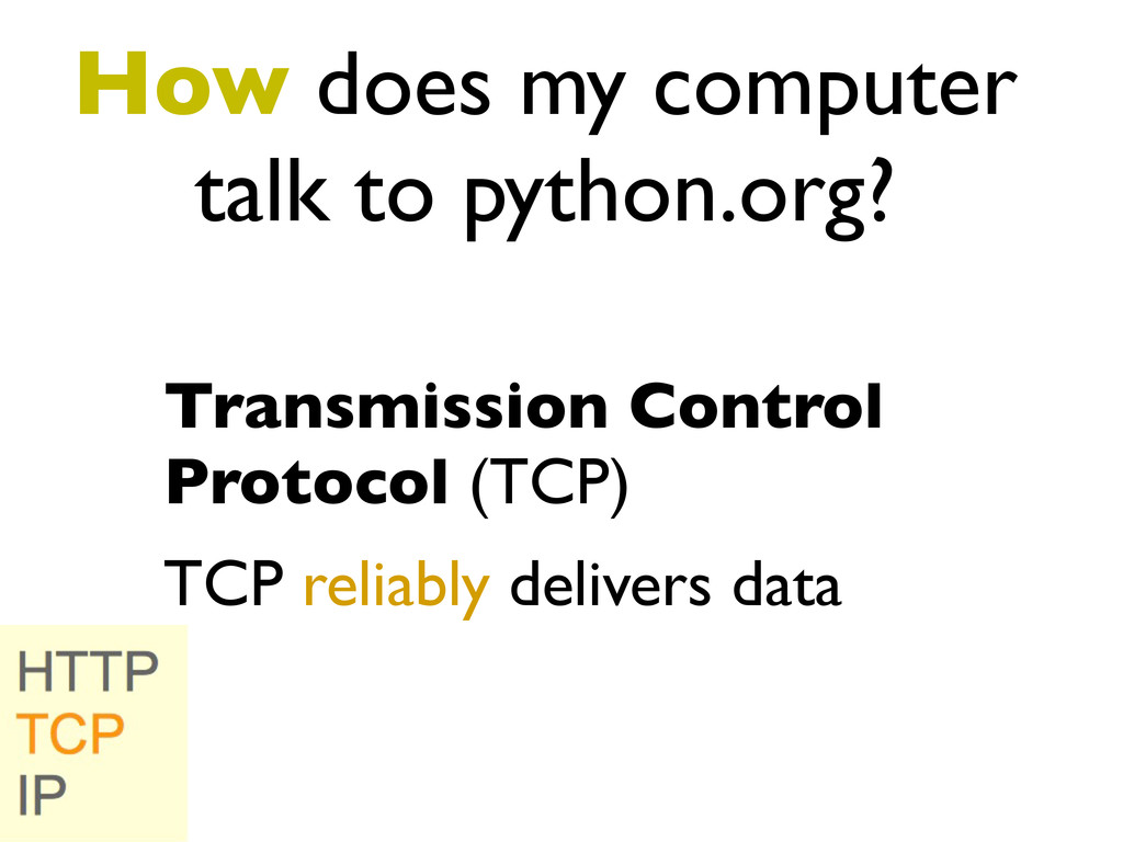 How does my computer talk to python.org? Transm...