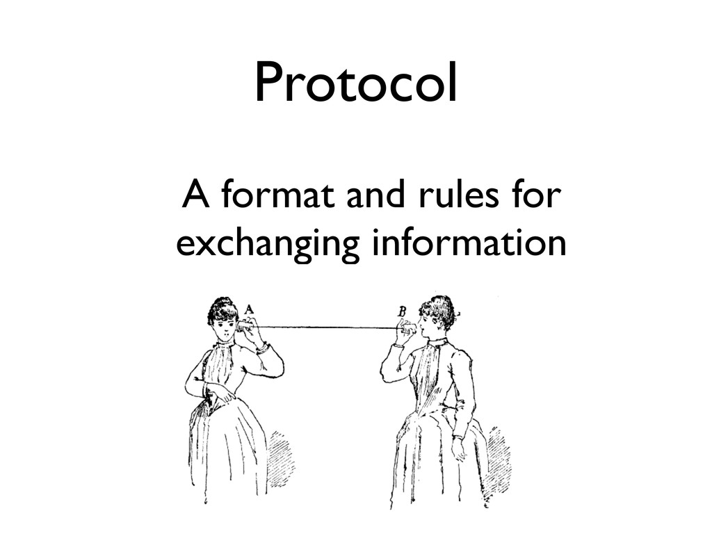 Protocol A format and rules for exchanging info...