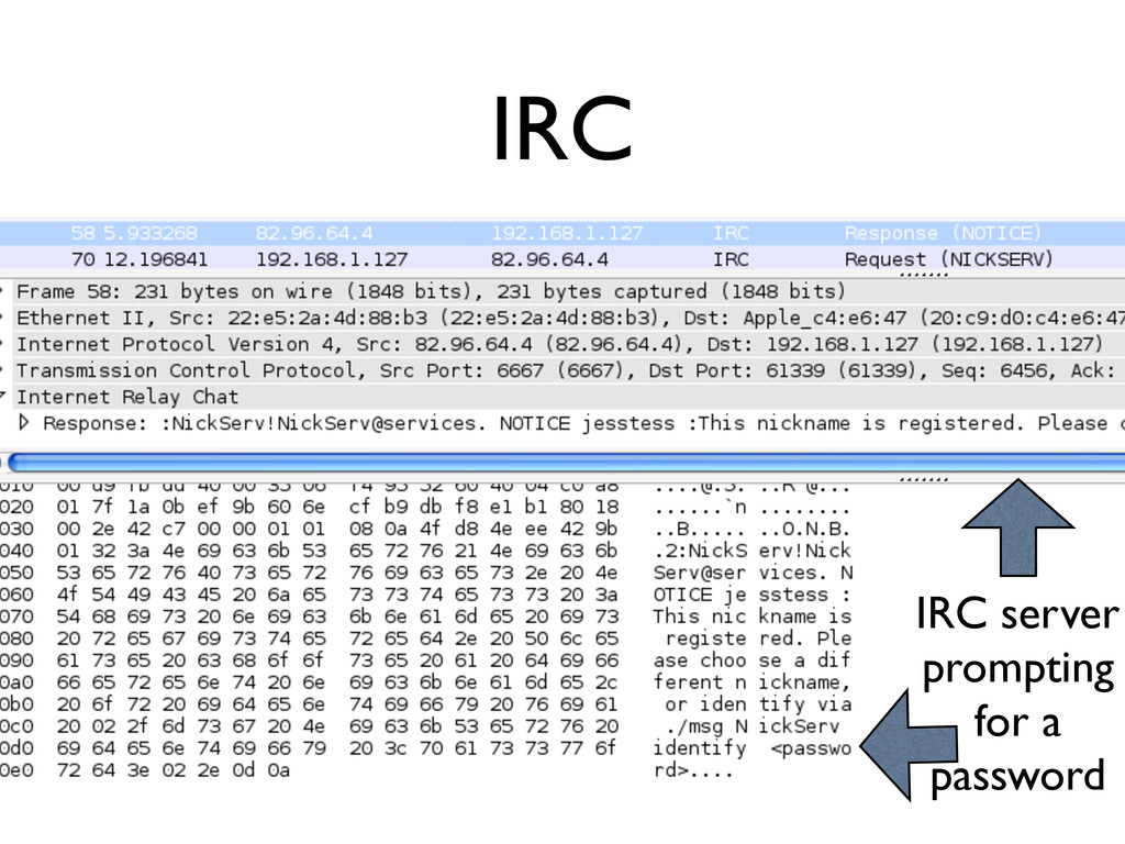 IRC IRC server prompting for a password