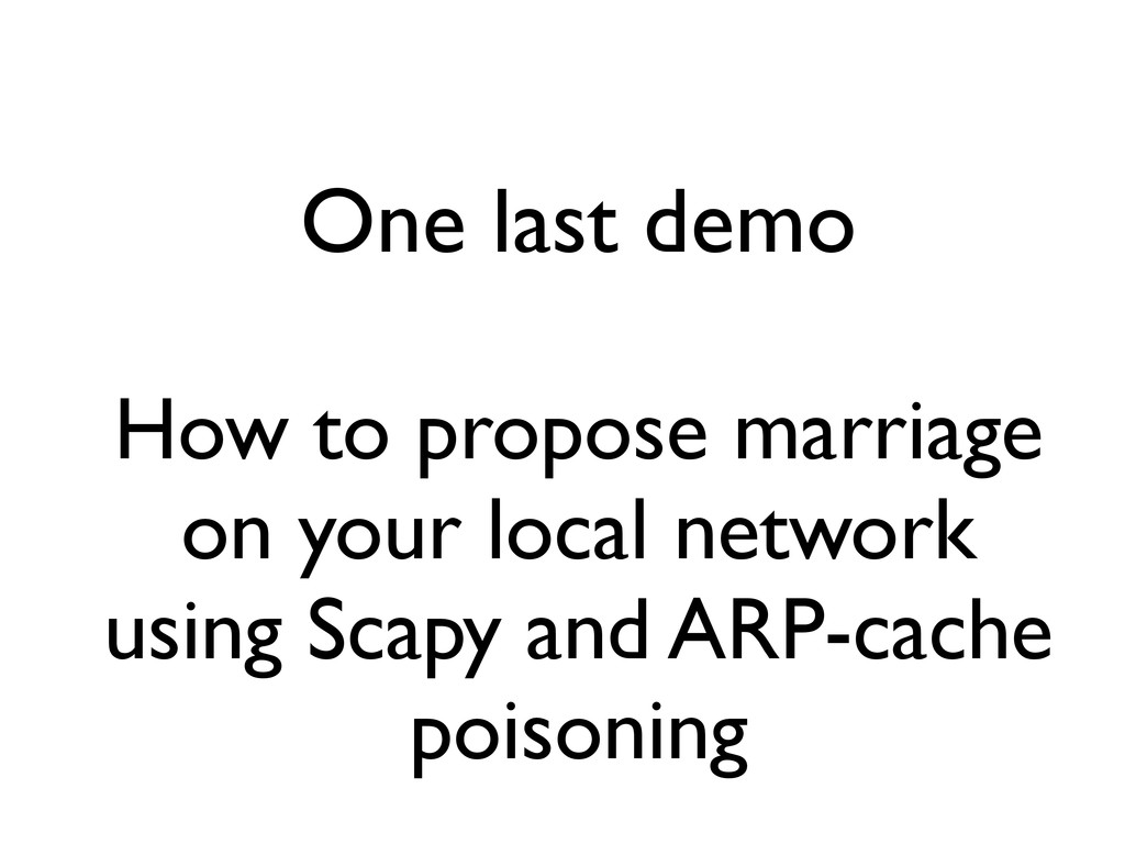 One last demo How to propose marriage on your l...