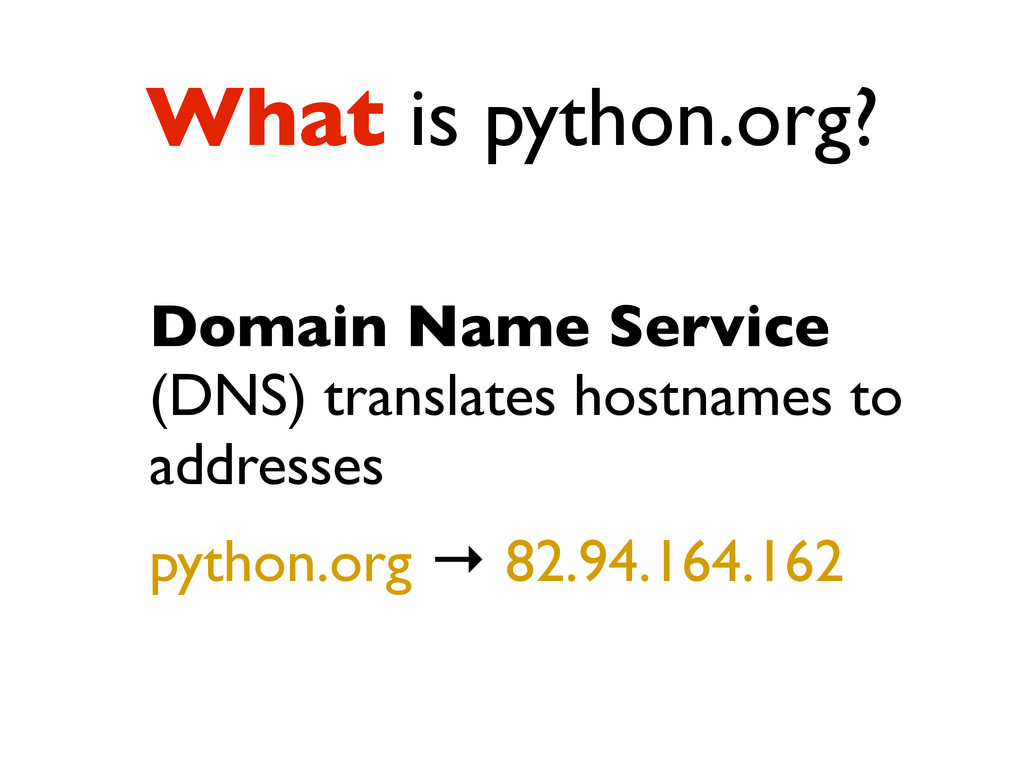 What is python.org? Domain Name Service (DNS) t...