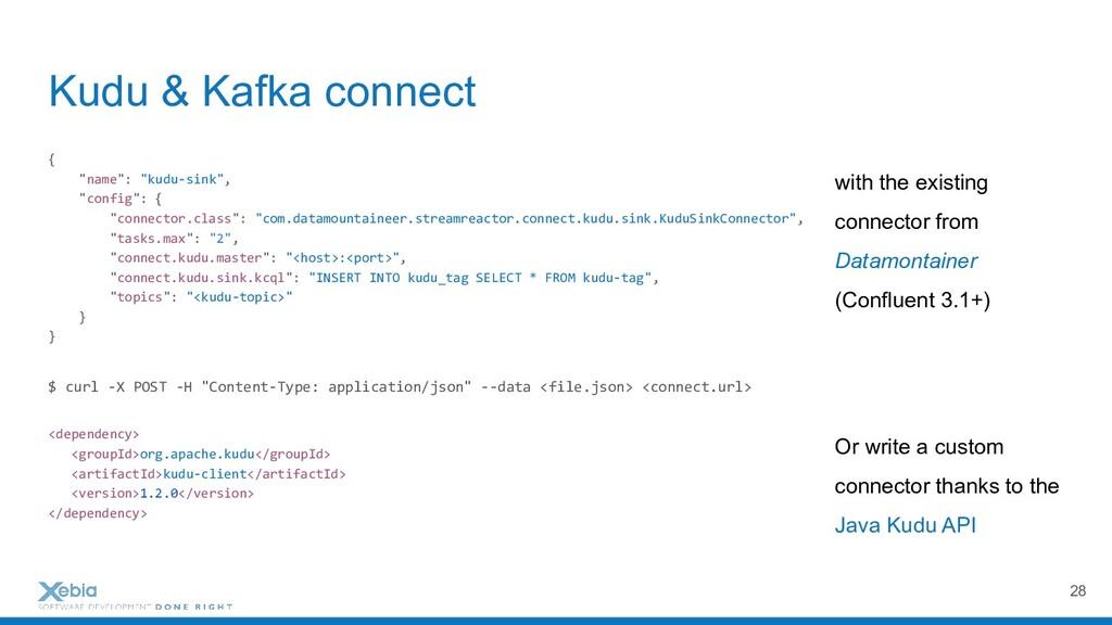 """Kudu & Kafka connect { """"name"""": """"kudu-sink"""", """"co..."""