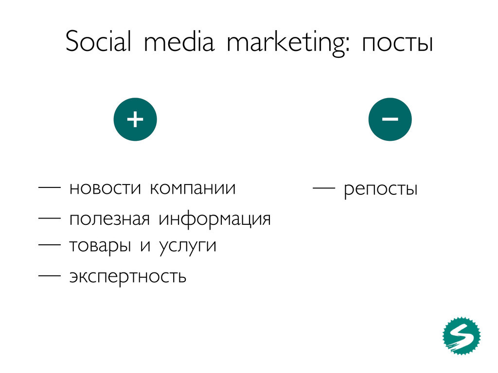 Social media marketing: посты — репосты — новос...