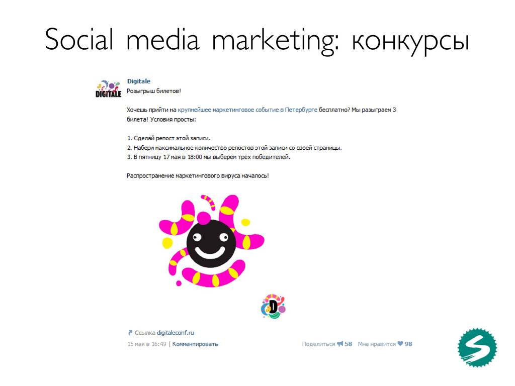 Social media marketing: конкурсы
