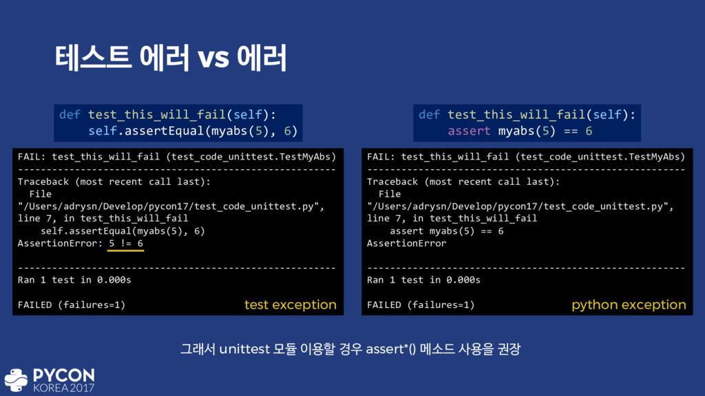పझ ী۞ vs ী۞ def test_this_will_fail(self): sel...