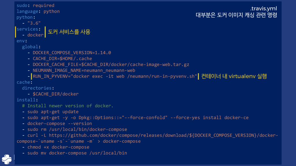 """sudo: required language: python python: - """"3.6""""..."""