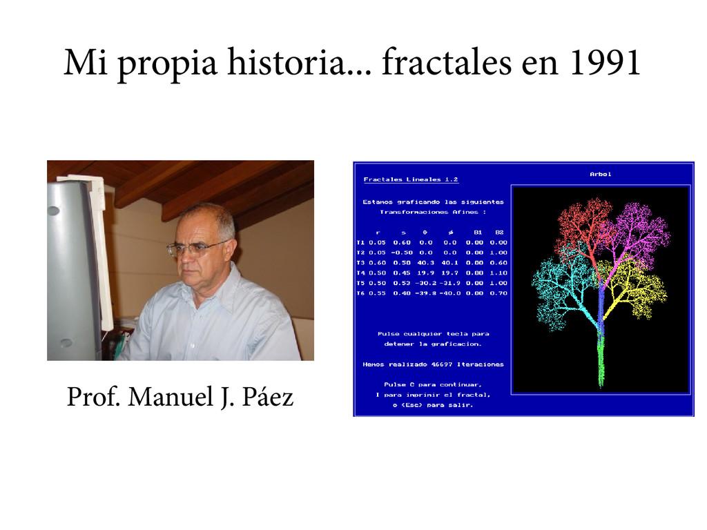 Mi propia historia... fractales en 1991 Prof. M...