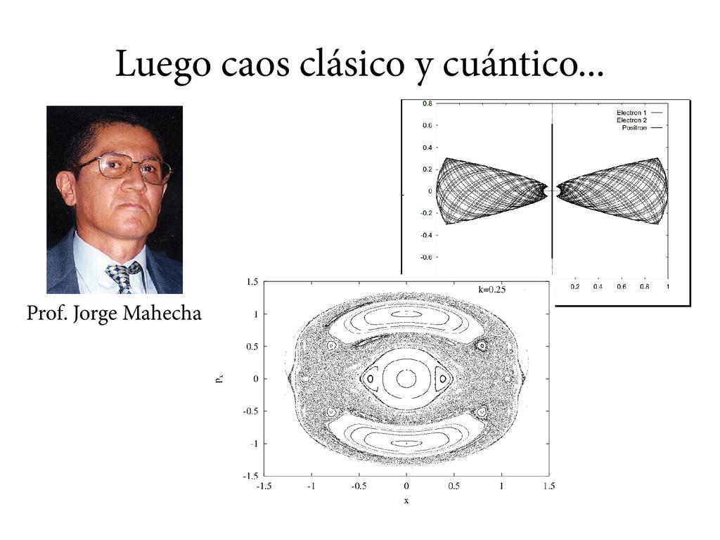Luego caos clásico y cuántico... Prof. Jorge Ma...