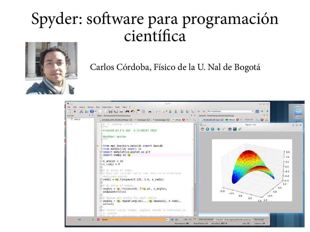 Spyder: software para programación científica C...