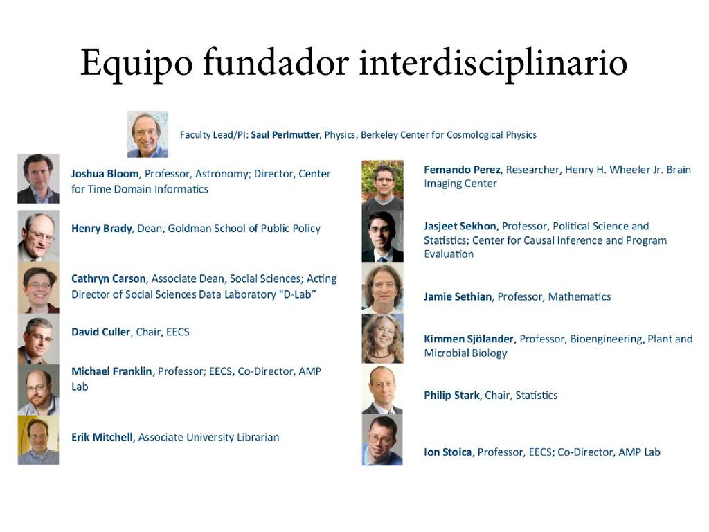 Equipo fundador interdisciplinario
