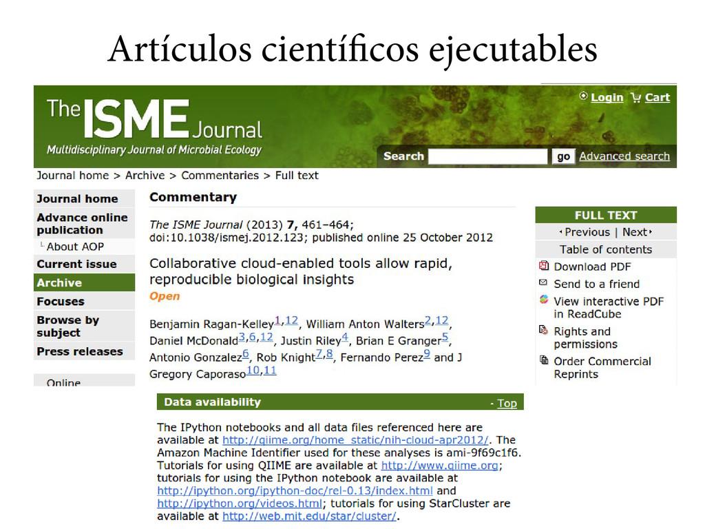 Artículos científicos ejecutables