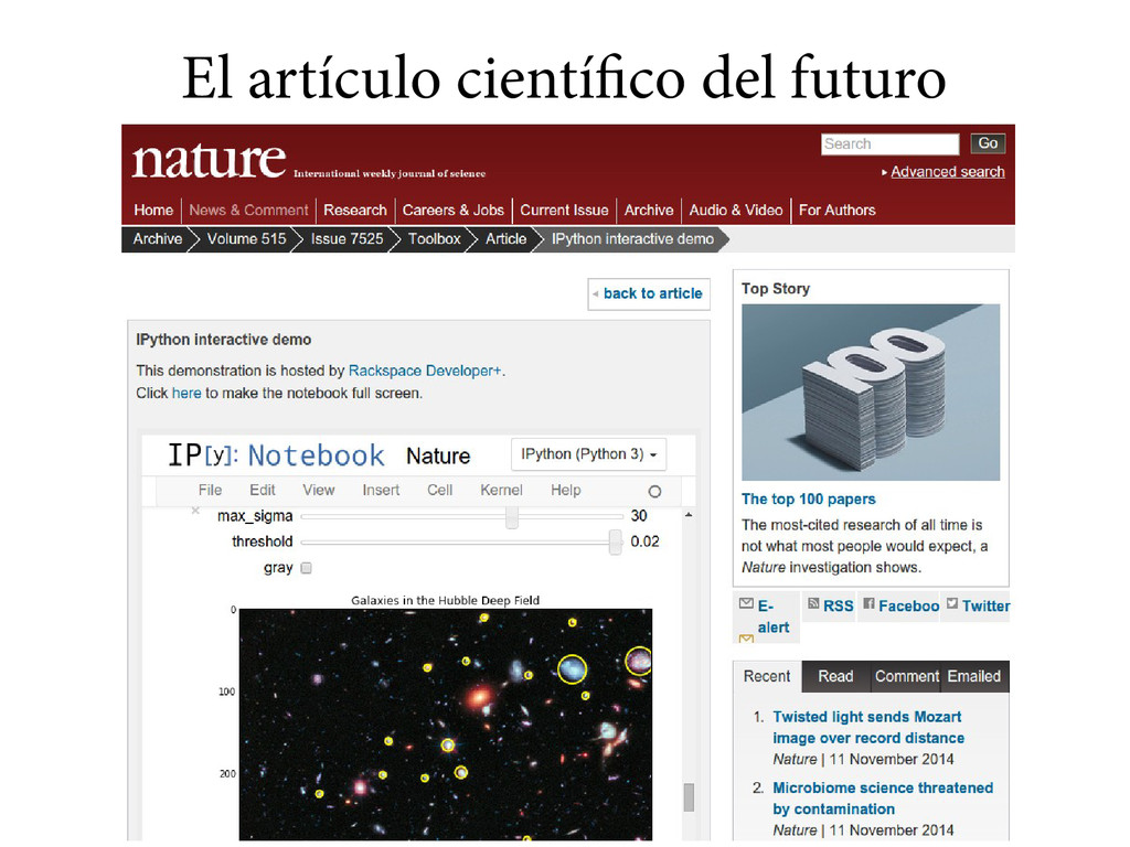 El artículo científico del futuro