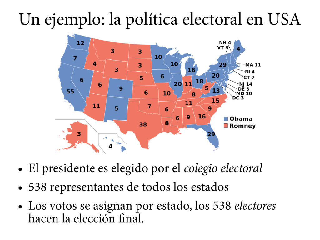 Un ejemplo: la política electoral en USA ● El p...