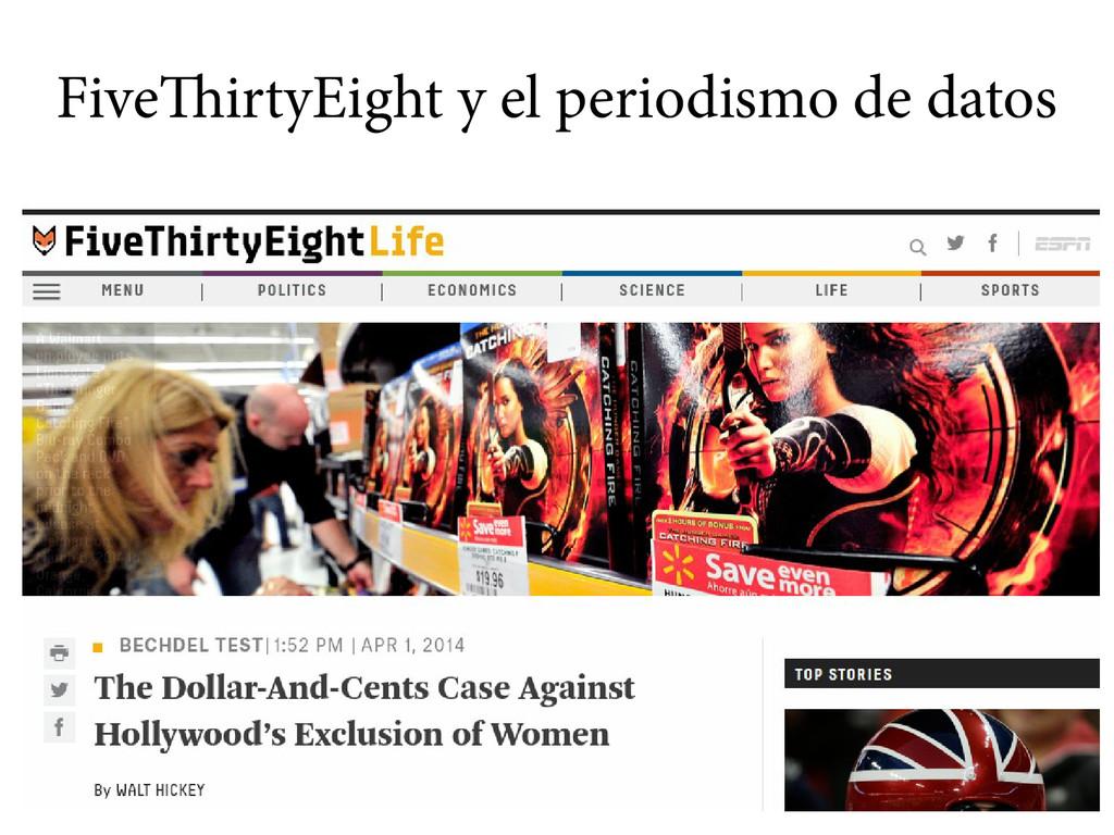 FiveThirtyEight y el periodismo de datos