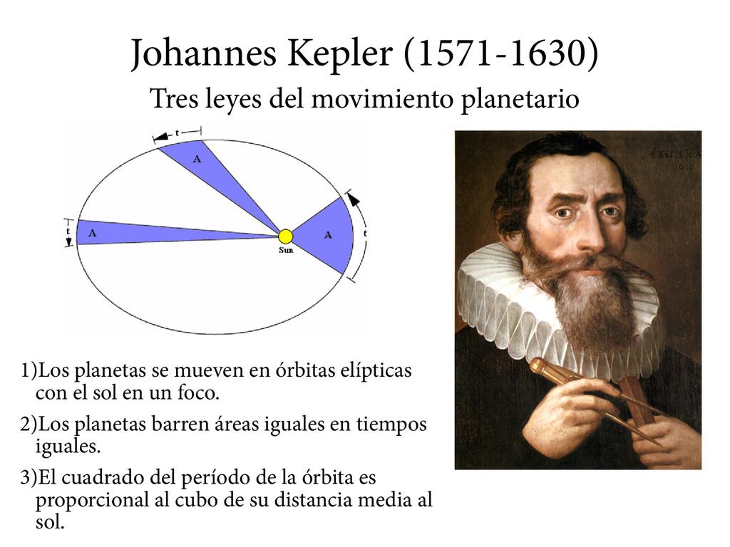 Johannes Kepler (1571-1630) Tres leyes del movi...