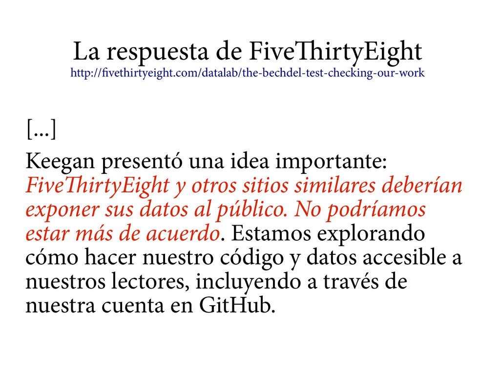 La respuesta de FiveThirtyEight http://fivethir...