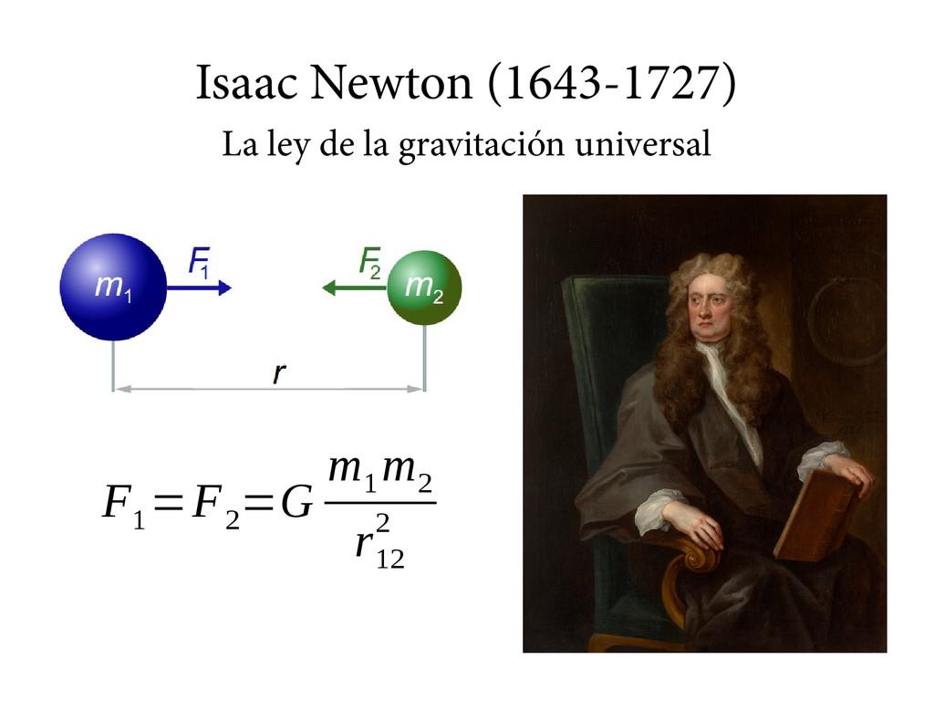 Isaac Newton (1643-1727) La ley de la gravitaci...