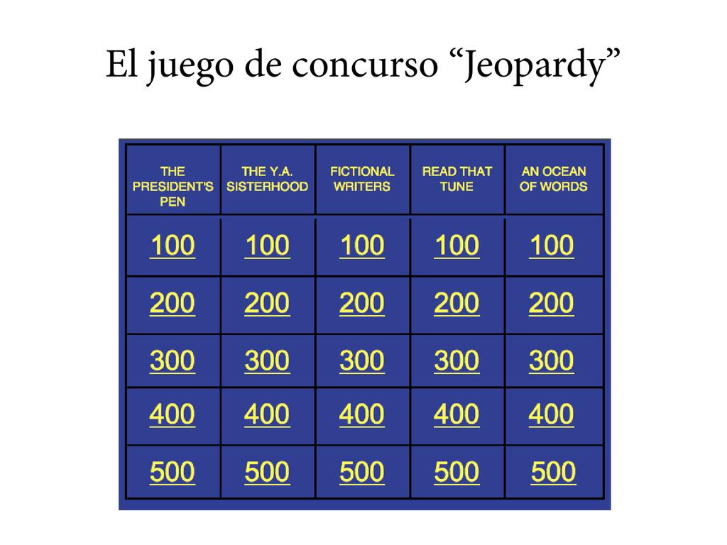 """El juego de concurso """"Jeopardy"""""""