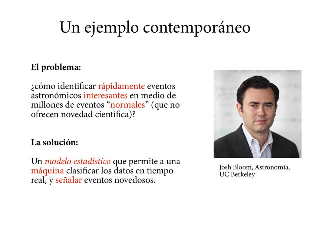 Un ejemplo contemporáneo El problema: ¿cómo ide...