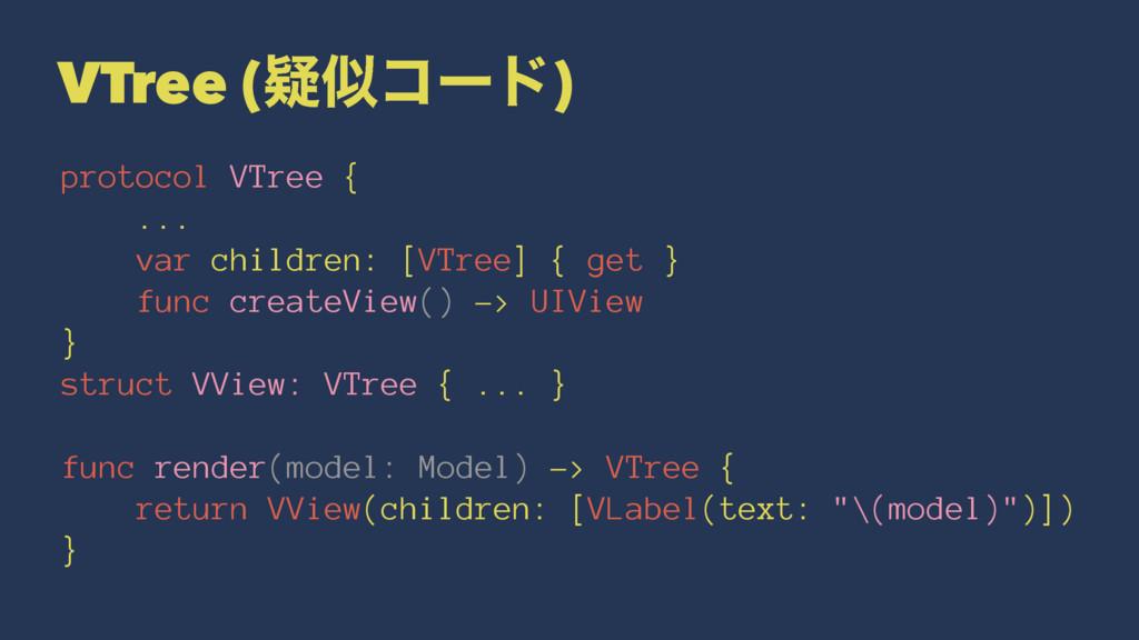 VTree (ٙίʔυ) protocol VTree { ... var children...